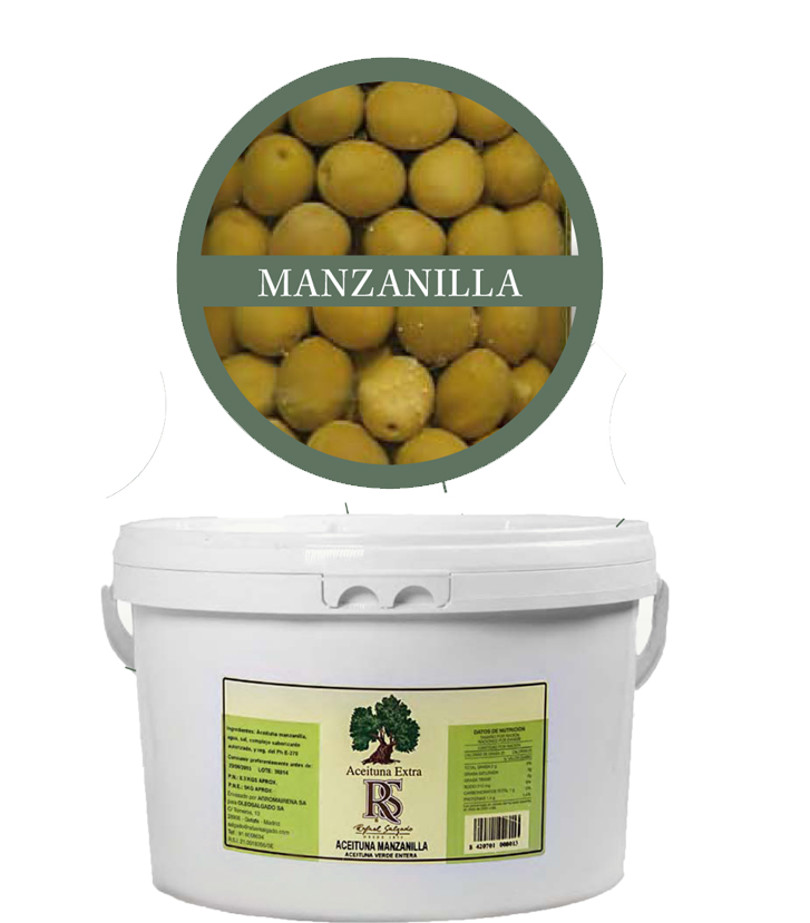 Aceituna Manzanilla 160/180 5 kg