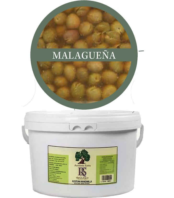 Aceituna Malagueña extra 180/200 5 kg