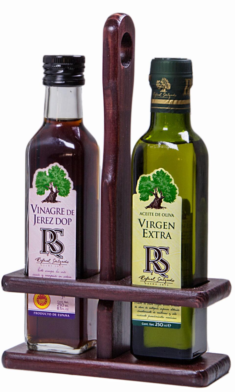 Vinagrera madera virgen y vinagre