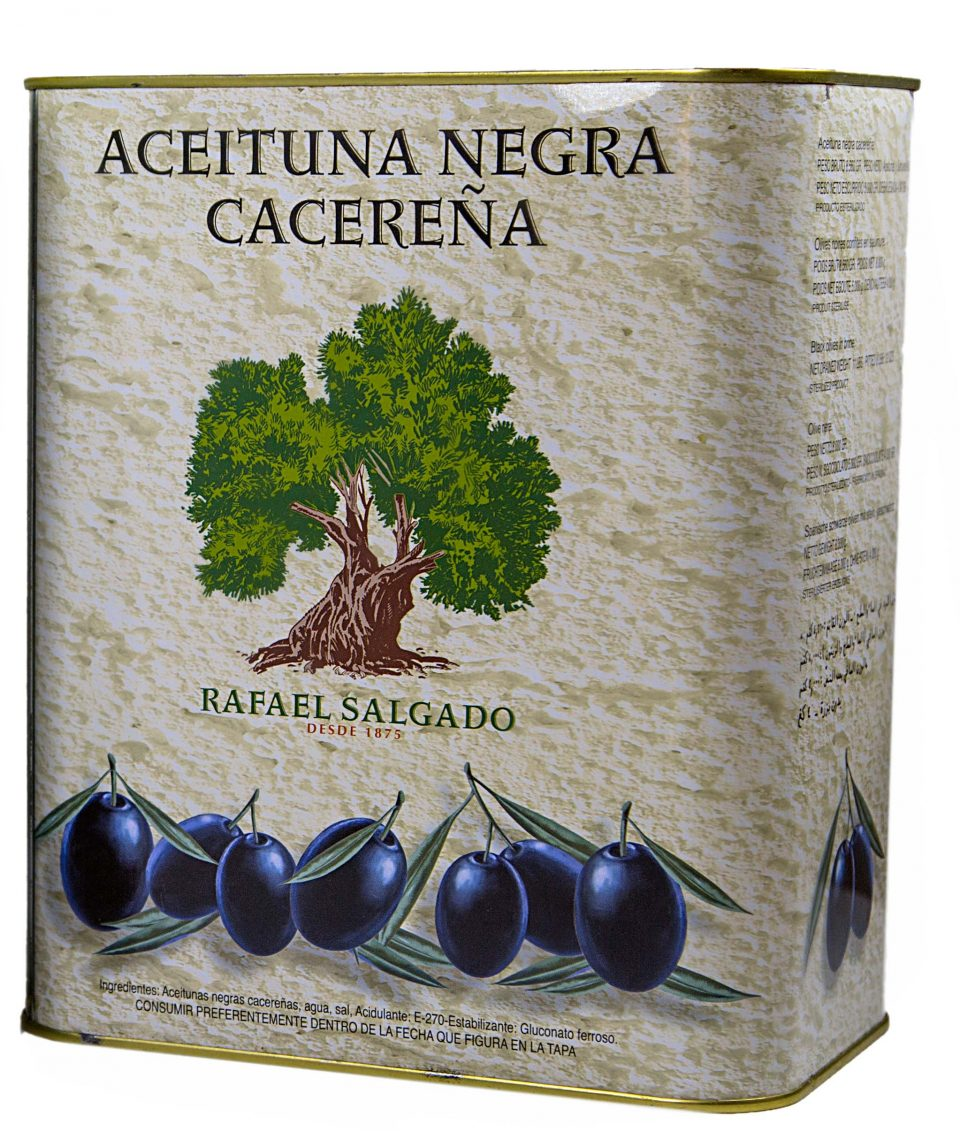 Aceituna Cacereña negra 240/260 5 kg