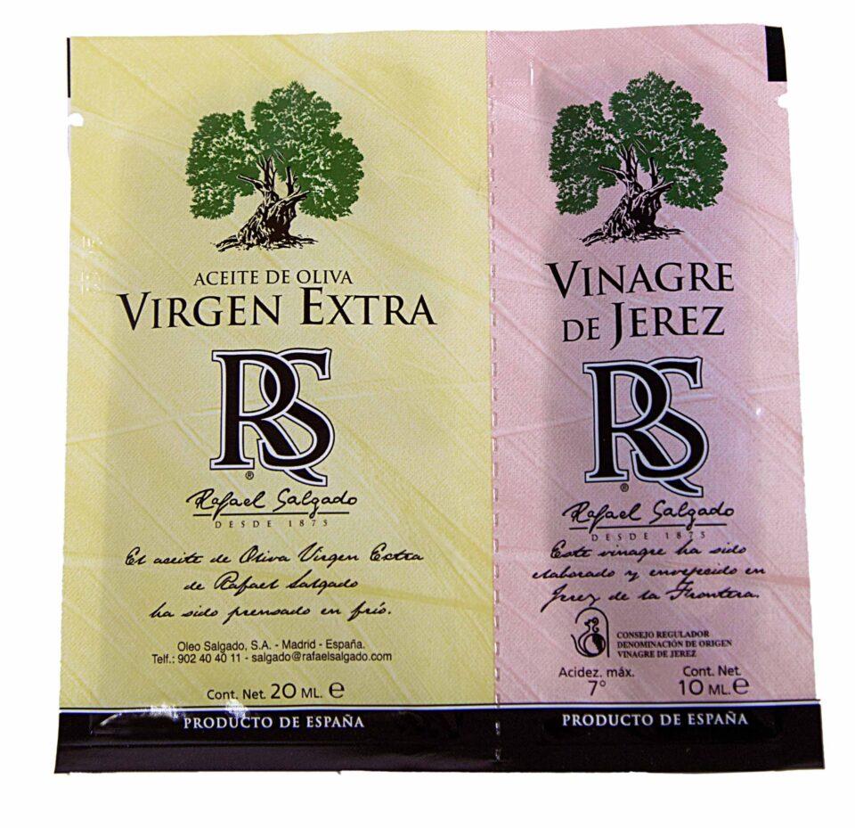 Aceite de Oliva Aceite de Oliva Virgen Extra y Vinagre bolsa 20+10ml 350 unidades