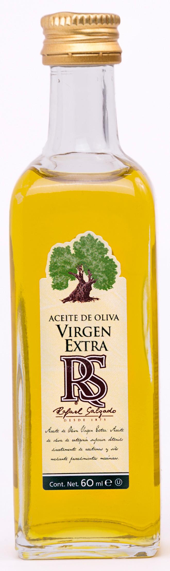 Aceite de Oliva Virgen Extra cuadrada cristal 60 ml