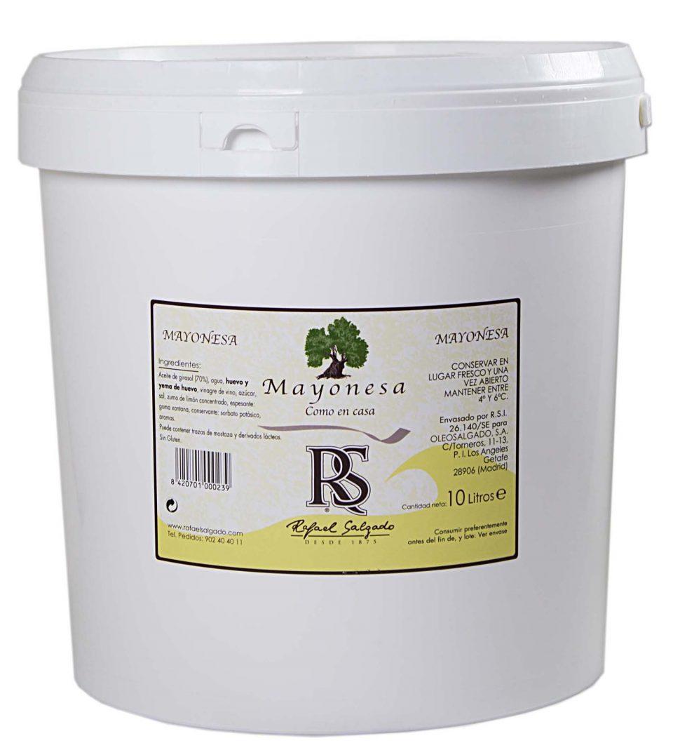 MAYONESA RS 75% Aceite de girasol 10 litros