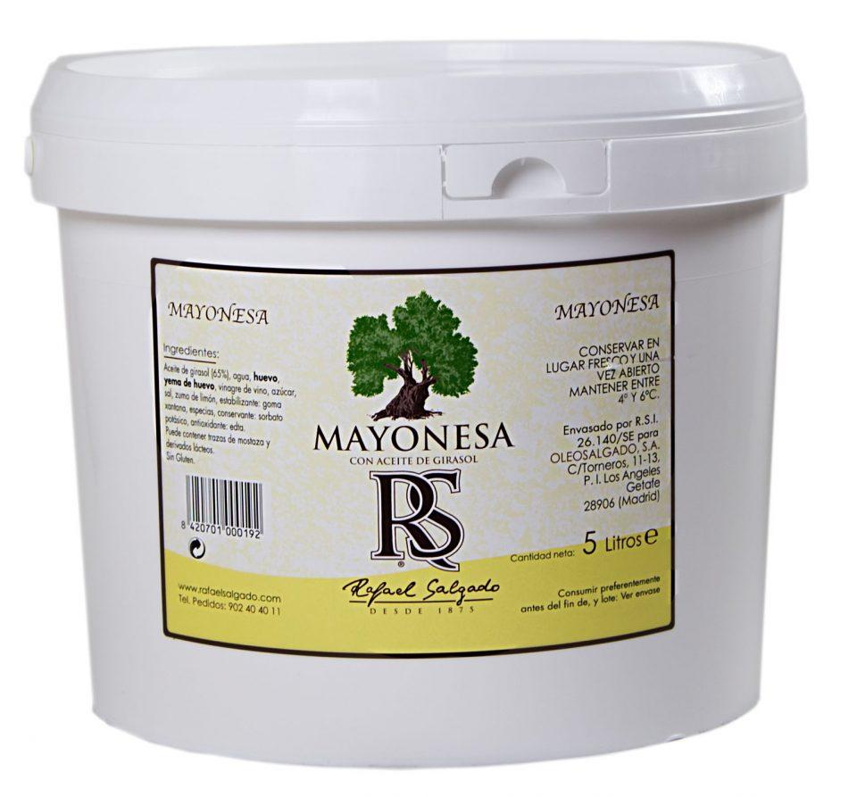 MAYONESA RS 75% Aceite de girasol 5 litros