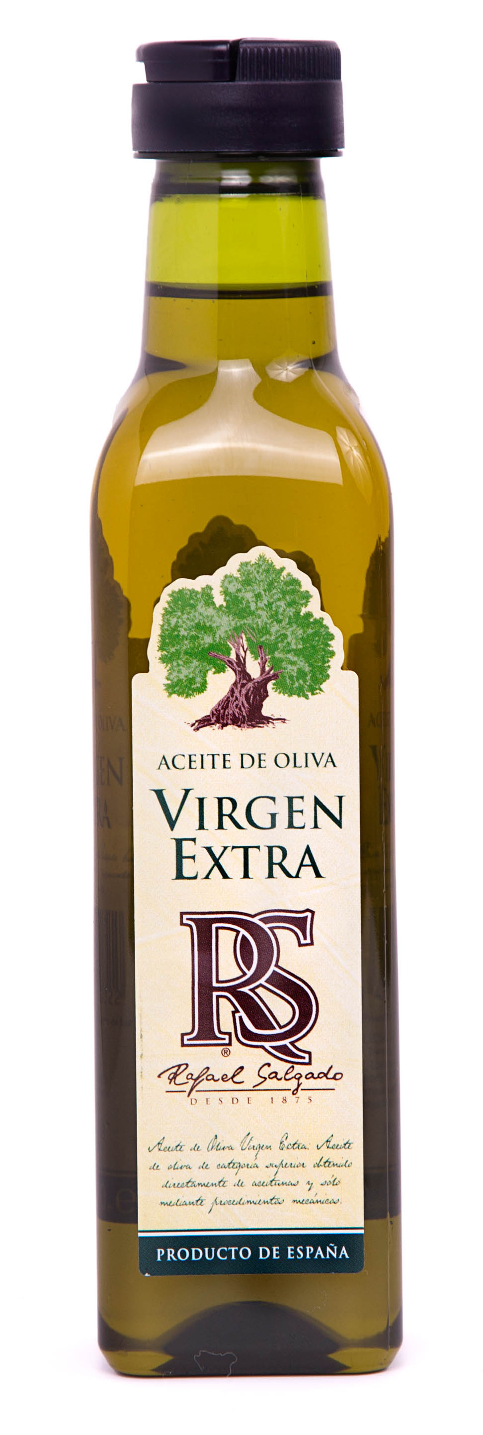 Aceite de Oliva Virgen Extra RS cuadrada pet 250 ml